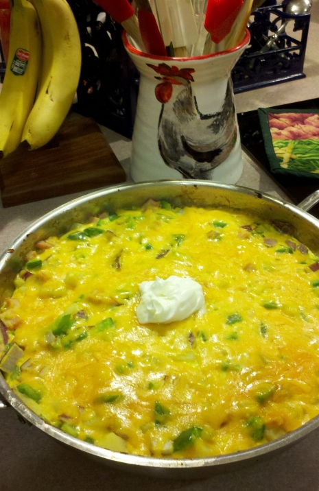 Hearty O'Brien Frittata made from farm-fresh eggs (photo: Kat B./travelgardeneat)