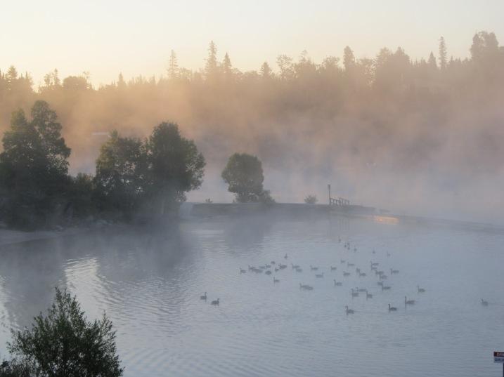 Anicinabe Campground Sunrise ~ Kenora, Ontario (photo: Kat B./travelgardeneat)