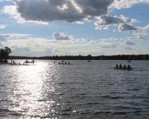 Wrapping up a day of rowing at the Kenora Rowing Club on Rabbit Lake (photo: Kat B./travelgardeneat)