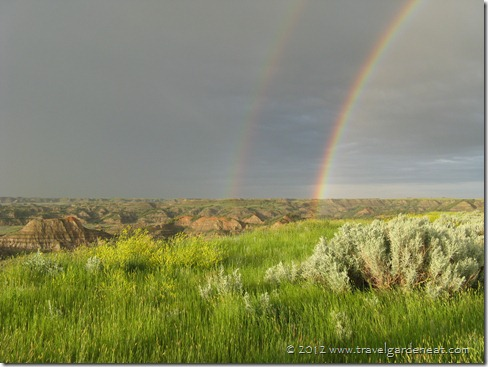 Double Rainbow over Theodore Roosevelt National Park in North Dakota