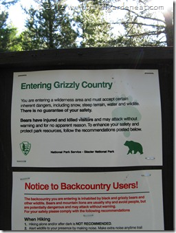 Iceberg Lake Trail sign ~ Glacier National Park