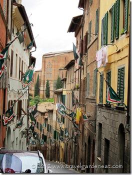 A street scene in Siena, Italy