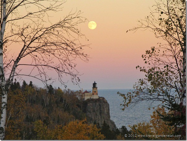 Full Moon over Split Rock Lighthouse ~ September 29, 2012