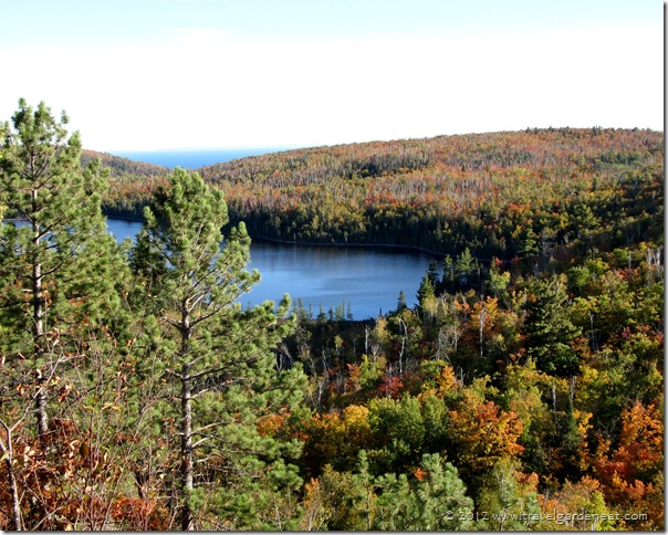 Tettegouche Lake with Lake Superior in the distance