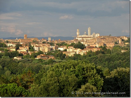 The view of Siena we enjoyed driving to and from the Villa del Cielo