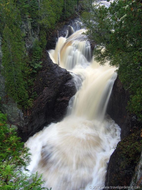 North America Usa Minnesota Grand Marais Judge C R Magney State Park Devil S Kettle Water Fall On The Brule River