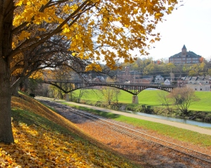 Looking from Grant Park across the Galena River ~ Galena, Illinois