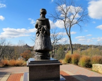 Statue of Julia Dent Grant on the property of the Grant home in Galena, Illinois