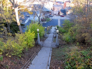 Old Galena High School steps to the historic downtown area