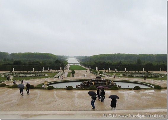 The view of the Grand Canal from the Palace of Versailles