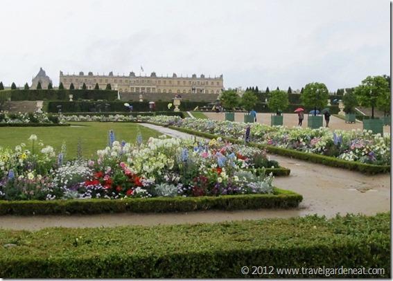 Versailles' flower gardens
