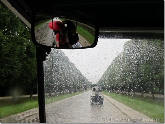 Golf cart touring of Versailles' gardens