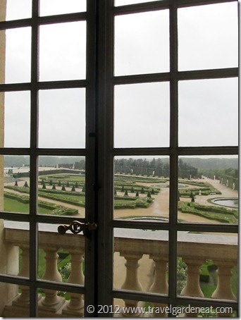 Looking at the gardens from the interior of the Palace of Versailles