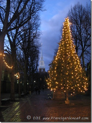 Christmas in Revere Park with Old North Church ~ Boston