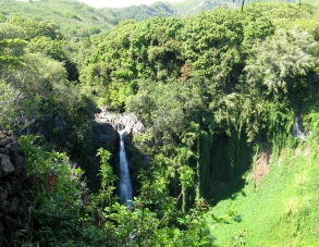 Makahiku Falls overlook on the Pipiwai Trail ~ Maui
