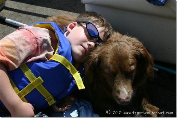 Napping on the pontoon