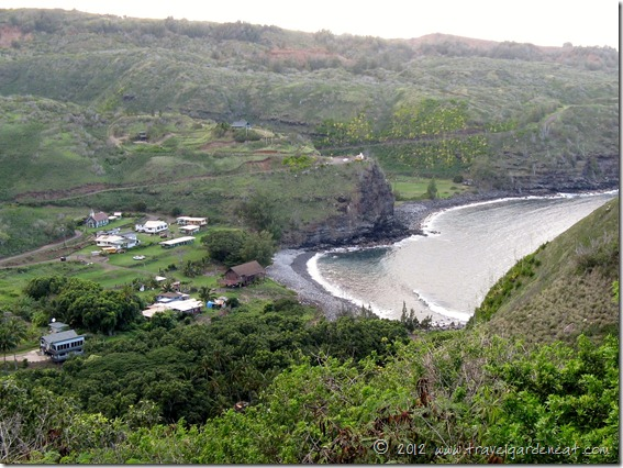 View of the Village of Kahakuloa, Maui, near the Kaukini Gallery