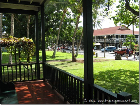 View of Lahaina from the porch of the Baldwin House