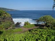 Ocean outlet for the O'heo Gulch Pools (a.k.a. Seven Sacred Pools) ~ Maui