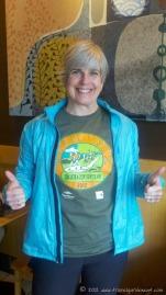 After a 12.5K trail race (April)