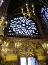 The 15th century rose window.