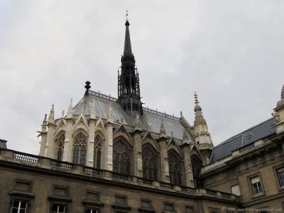 Sainte-Chapelle's gothic exterior.