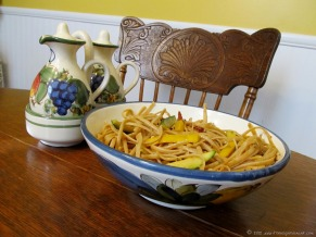 Started the blog! (August) ~ Spaghettini with Summer Squash