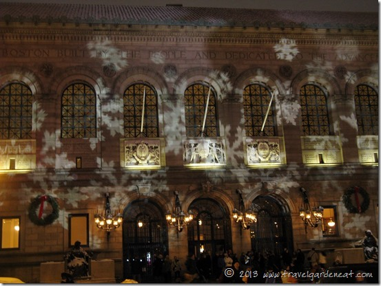 """Boston Public Library during """"First Night"""" activities"""
