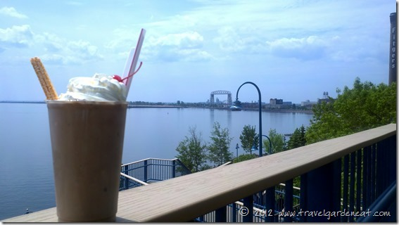 A malt from the Portland Malt Shoppe while enjoying Duluth's Lakewalk