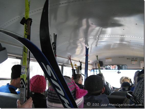 Shuttle bus from Washburn to the starting line in Ashland