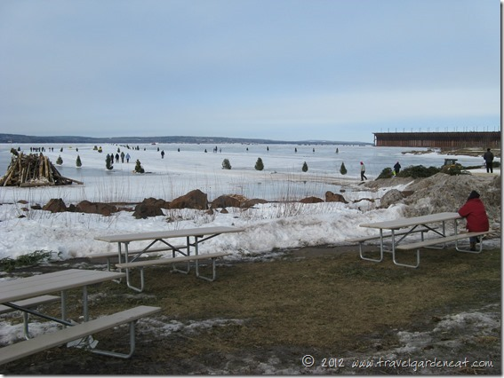 Snow was a little sparse in 2011 -- must be picnic season