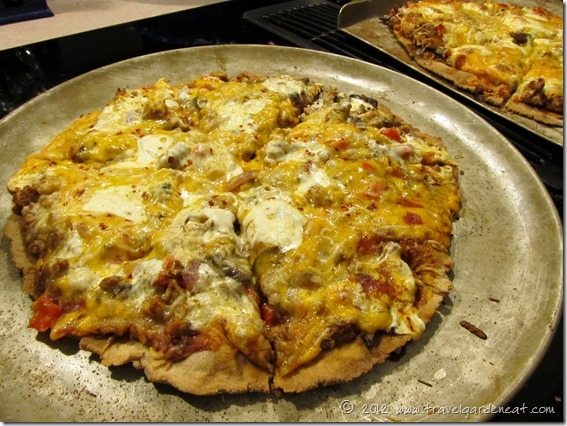 The grilled pizza without a post . . .