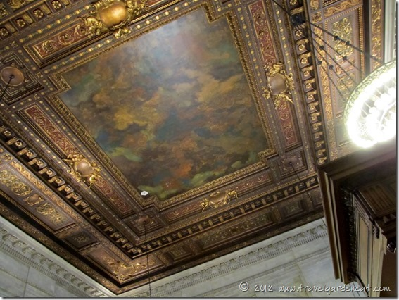 Ceiling of the Bill Blass Public Catalog Room ~ New York Public Library
