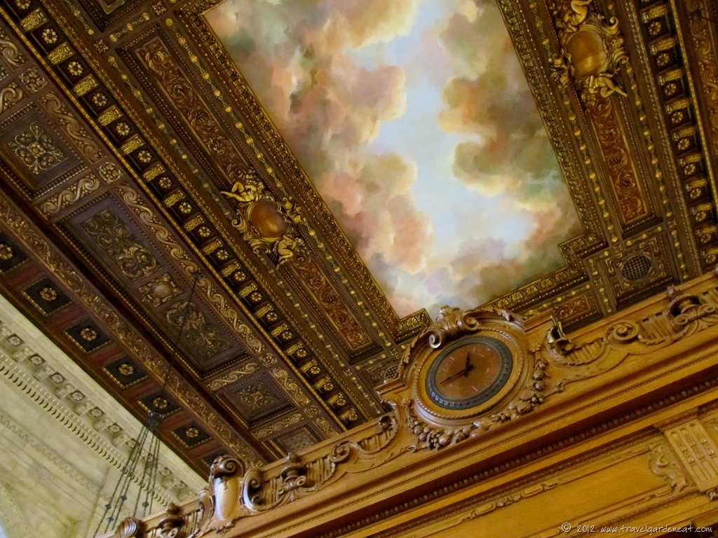 Mcgraw rotunda travel garden eat for Ceiling mural in smokers lounge