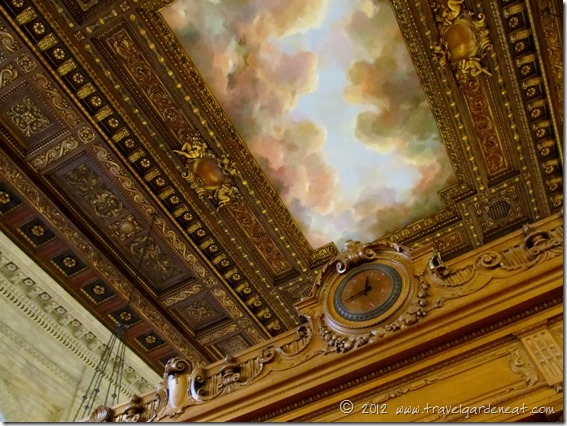 Ceiling mural in the Rose Main Reading Room ~ New York Public Library