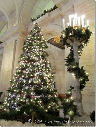 New York Public Library's Christmas Tree (2012)