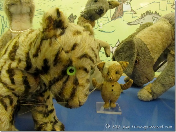 The Original Tigger, Kanga, Piglet and Eeyore at the New York Public Library