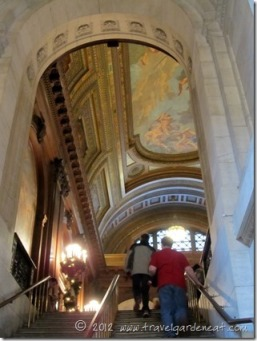 Stairway leading to the McGraw Rotunda ~ New York Public Library
