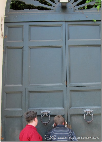 Doors to the headquarters of the Knights of Malta ~ Aventine Hill, Rome