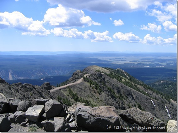 The summit view from the Mt. Washburn Trail ~ Yellowstone National Park