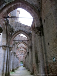 San Galgano's Romanesque arches
