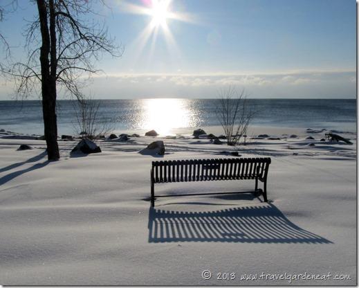 Peaceful winter morning along Lake Superior's shores