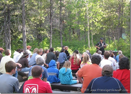Jack Gladstone performing at Many Glacier Campground