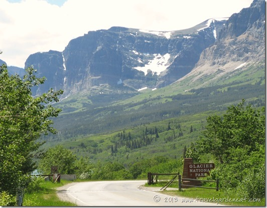 Entrance to the Many Glacier section of Glacier National Park