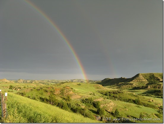 Double Rainbow in Theodore Roosevelt National Park