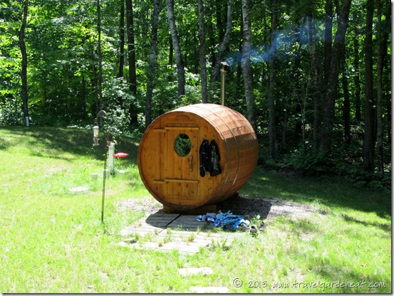 Sauna in Spring and Summer