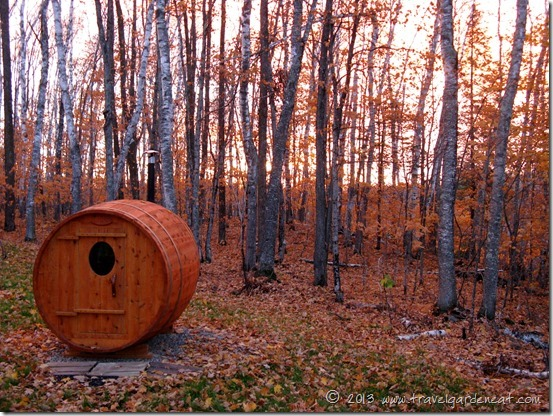 Sauna in Autumn