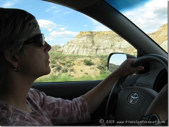 Kat navigating through North Dakota