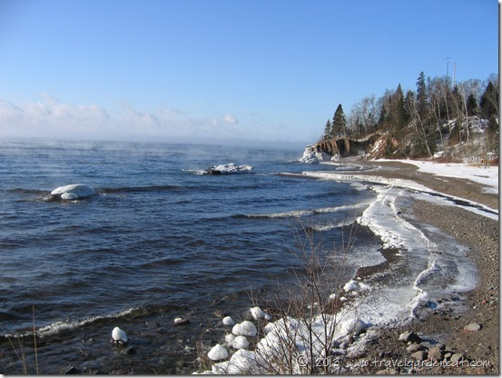 North Shore of Lake Superior in winter