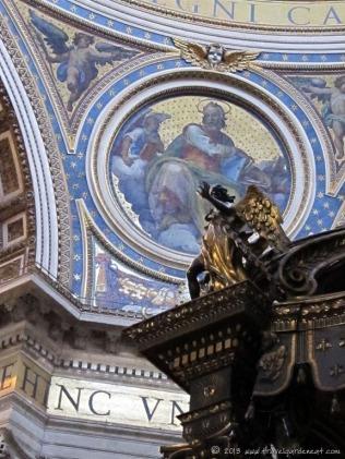 An angel atop Bernini's canopy